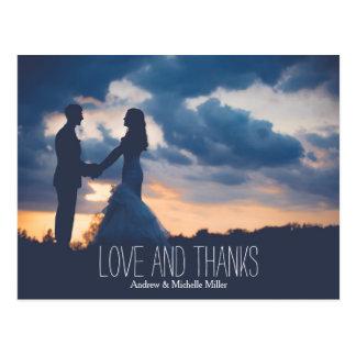 愛およびかせの結婚は感謝していしています ポストカード