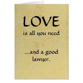 愛およびよい弁護士 カード