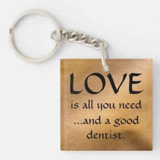 愛およびよい歯科医Keychain キーホルダー