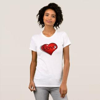 愛およびハートの女性 Tシャツ