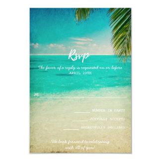 愛およびビーチ結婚式RSVPカード 8.9 X 12.7 インビテーションカード