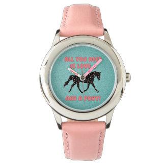 愛および子馬 腕時計