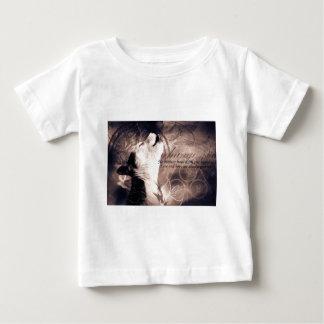 愛および希望のシベリアンハスキー ベビーTシャツ