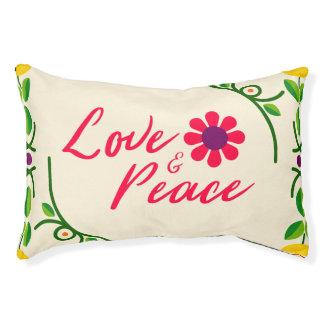 愛および平和カスタムな屋内犬のベッド