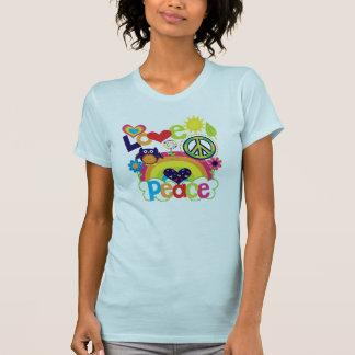 愛および平和ベビー Tシャツ