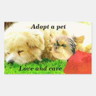 愛および心配、Dogs_ 長方形シール