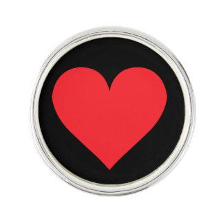 愛および愛情のハート ラペルブローチ