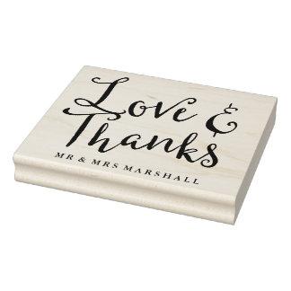 愛および感謝の結婚 ラバースタンプ