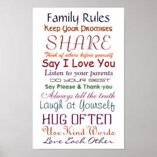 愛および生命ポスターのための家族の規則 ポスター