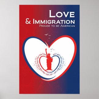 愛および移住-米国 ポスター