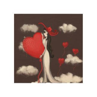 愛およびvalenitne ウッドウォールアート