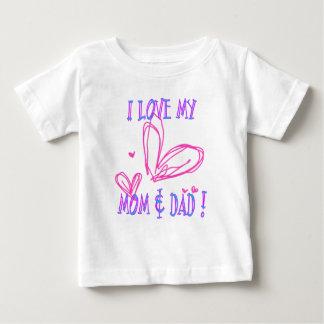 愛お母さんのパパ ベビーTシャツ