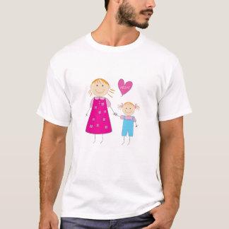 愛お母さんのワイシャツ Tシャツ