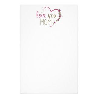 愛お母さんの母の日のハート 便箋