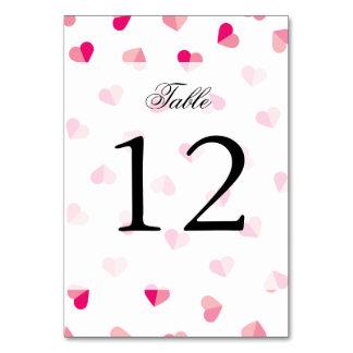 愛かわいいピンクのハートパターン カード