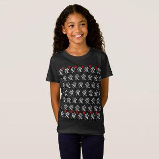 愛かハートまたは印(日本のな書道) Tシャツ