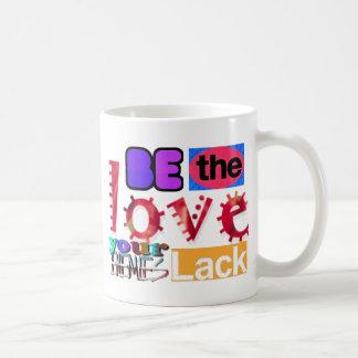 愛があなたの敵の欠乏あって下さい コーヒーマグカップ