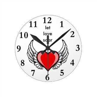愛が上昇するようにして下さい ラウンド壁時計