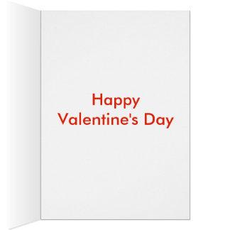 愛されたバレンタインデーカード カード