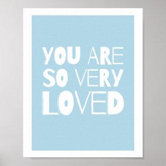愛された甘くモダンな壁の装飾|の青です ポスター