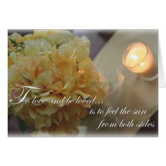 愛された結婚するか、または挨拶状があるため愛し、 カード