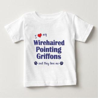 愛して下さい私のWirehaired指すGriffons (数々のな犬)を ベビーTシャツ
