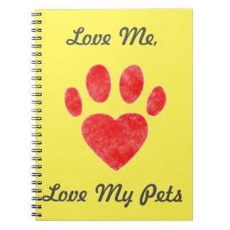 """""""愛して下さい私を、愛します私のペット""""を ノートブック"""