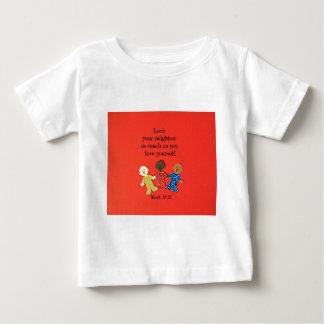 愛すると12:31愛にあなたの隣人大いに印を付けて下さい ベビーTシャツ