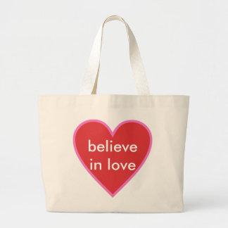 愛で信じて下さい ラージトートバッグ