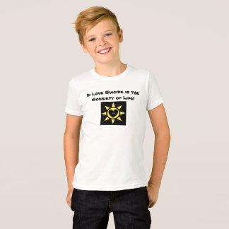 愛で自殺は生命p118の節酒です tシャツ
