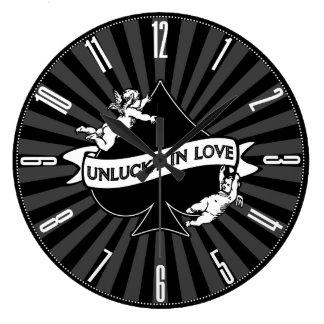 愛で運の悪い ラージ壁時計