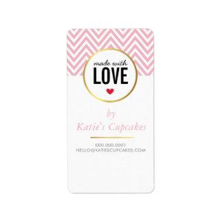 愛となされる包装のラベルのラベルはシェブロンを飾ります 宛名ラベル