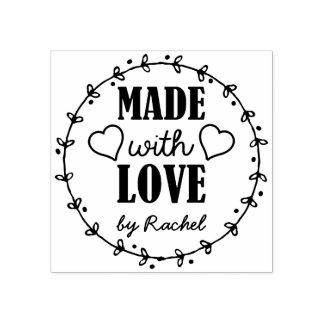 愛と作られる-名前入りに ラバースタンプ
