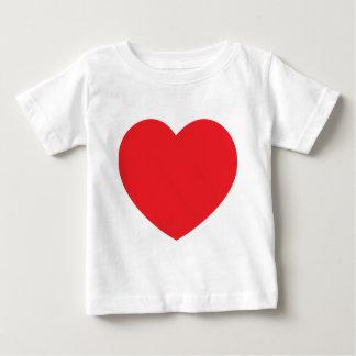 愛と憎しみのハート ベビーTシャツ