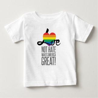 愛ない憎悪(虹)のベビーのジャージーのTシャツ ベビーTシャツ