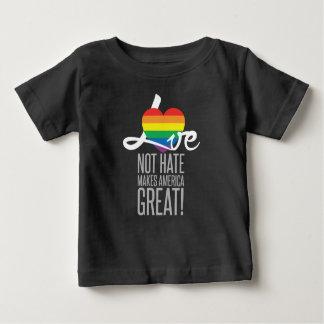 愛ない憎悪(虹)のベビーの暗いジャージーのTシャツ ベビーTシャツ
