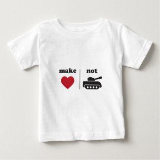 愛ない戦争のTシャツを作って下さい ベビーTシャツ