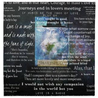 愛についてのウィリアム・シェイクスピアの引用文 ナプキンクロス