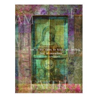 愛についてのウィリアム・シェイクスピアの引用文 ポストカード
