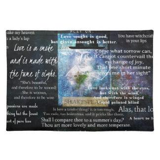 愛についてのウィリアム・シェイクスピアの引用文 ランチョンマット