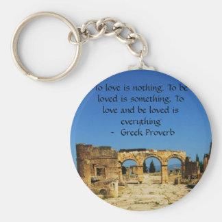 愛についてのギリシャの諺 キーホルダー