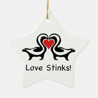 愛によってはスカンクが悪臭を放ちます 陶器製星型オーナメント