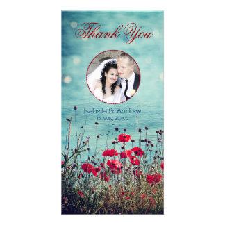 愛のあなたの写真の海を感謝していしています加えて下さい カード