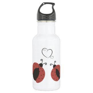 愛のかわいく粋なギンガムのてんとう虫 ウォーターボトル