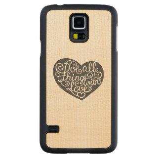 愛のすべての事をして下さい CarvedメープルGalaxy S5スリムケース