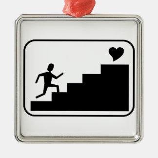 愛のために走ること メタルオーナメント