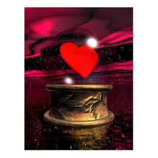 愛のためのクリスタル・ボール- 3Dは描写します ポストカード