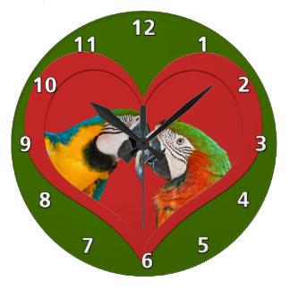 愛のオウム ラージ壁時計