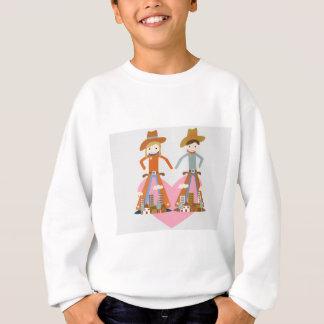 愛のカウボーイそして女性のカーボーイ スウェットシャツ