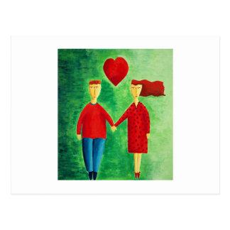 愛のカップル ポストカード